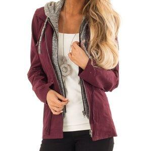 Jackets & Blazers - NWT Wine cargo jacket